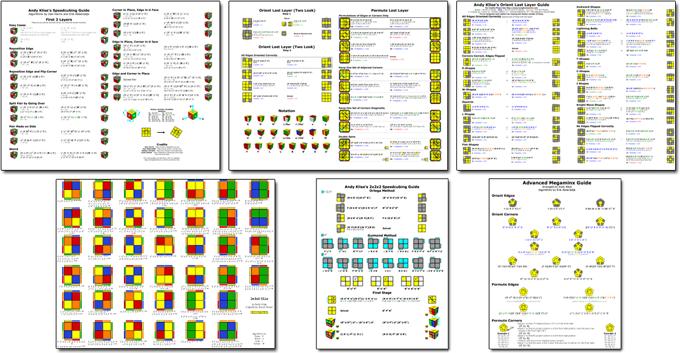 Printable Rubik's Cube Guides (PDFs for 2x2x2 - 5x5x5